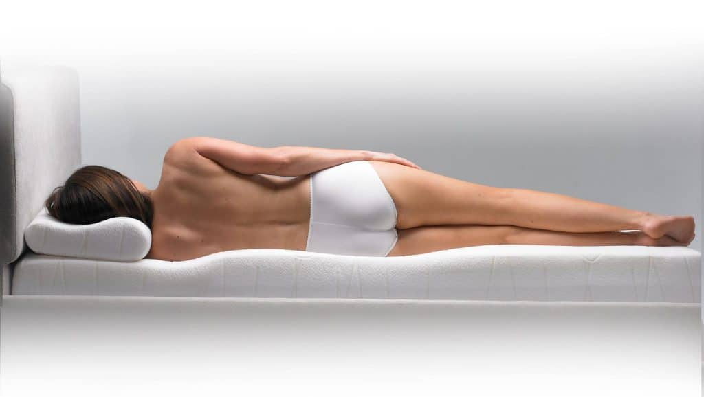 woman resting on memory foam mattress