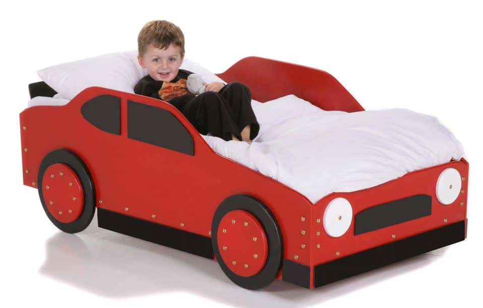kid driving bed