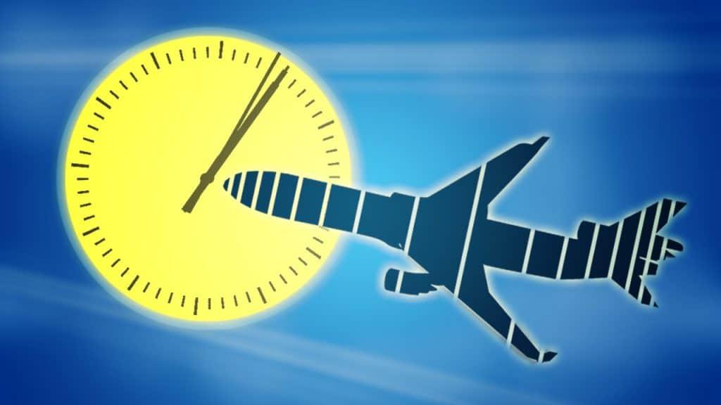 sun and plane image